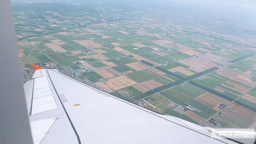 飛行機、北海道